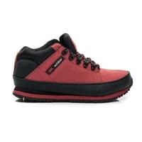 Pohodlné trekové boty červené