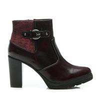 Dámské podzimní boty bordó