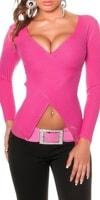 Růžový svetr dámský