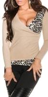 Béžový svetr dámský