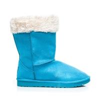 Sněhule s kožíškem modré