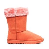 Sněhule s kožíškem oranžové