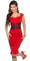 Dámské červené večerní šaty