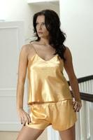 Dámské saténové pyžamo Karen zlaté