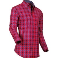 Pánská košile Pontto modročervená kostka