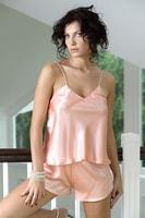 Dámské saténové pyžamo Karen světle růžové
