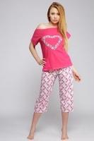 Dámské bavlněné pyžamo Srdce růžové