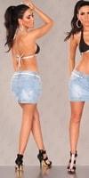 Džínová krátká sukně