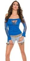 Modré sexy tričko