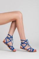 Ploché sandály modrá luna