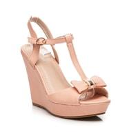 Růžové sandály s mašličkou
