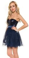 Dámské modré večerní šaty