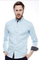 Slim fit košile modrá