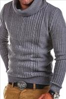 Šedý svetr s vysokým límcem