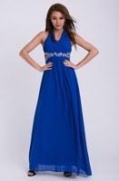 Dlouhé plesové šaty modré
