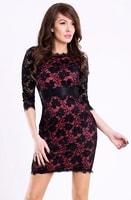 Šaty černo-růžové