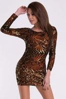Dámské šaty v barvě měděné