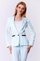 Modré pruhované sako