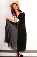 Černé dlouhé šifónové šaty