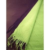 Pašmína zeleno-fialová