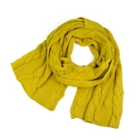 Tlustá šála s pletencovým vzorem žlutá