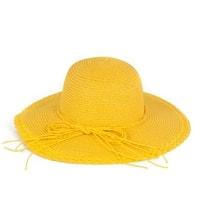 Žlutý dámský klobouk
