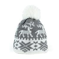 Zimní čepice s norským vzorem šedá
