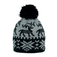 Zimní čepice s norským vzorem tmavošedá