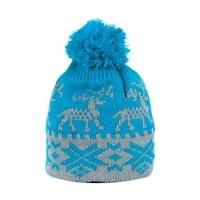 Zimní čepice s norským vzorem modrý