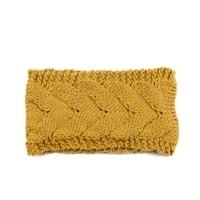 Pletená módní čelenka žlutá