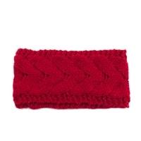 Pletená červená čelenka