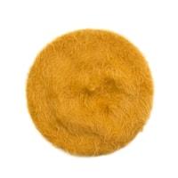 Žlutý angorský baret s dlouhým vlasem