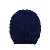 Teplá zimní čepice tmavě modrá
