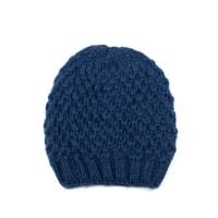 Teplá zimní čepice modrá