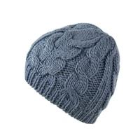 Zimní pletená čepice modrá
