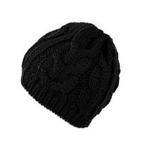Zimní pletená čepice černá