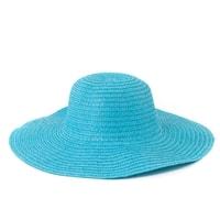 """Dámský plážový klobouk """"slamák"""" tyrkysový"""