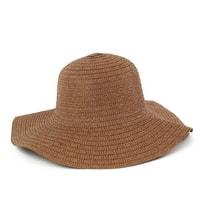 """Dámská plážový klobouk """"slamák"""" hnědý"""