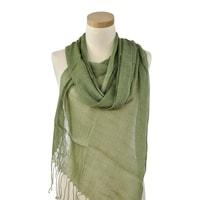 Lehký šátek na léto zelený
