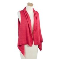 Módní pletená vesta malinová