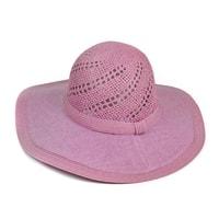 Přírodní letní klobouk růžový