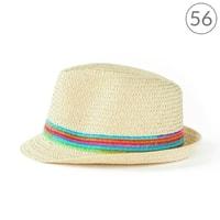 Světlý klobouk na léto s barevnými pruhy