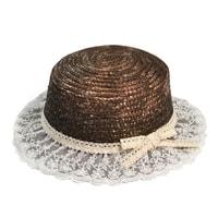 Slaměný klobouk alá slečna Marplová hnědý