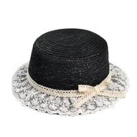 Slaměný klobouk alá slečna Marplová černý