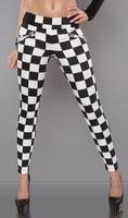 Kárované dámské kalhoty