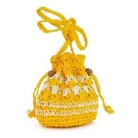 Pletený měšec žlutý