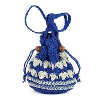 Pletený měšec modrý