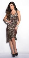 Dámské leopardí sexy šaty