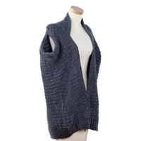 Pletená vesta šedá
