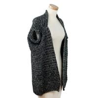 Módní pletená vesta šedá